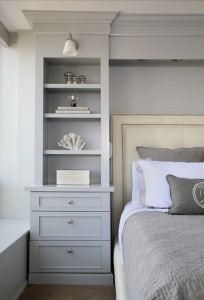 soft gray bedroom