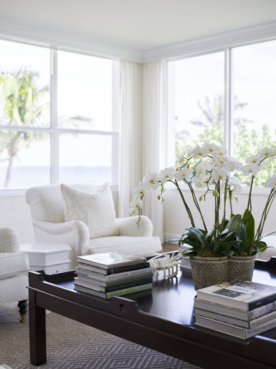 white orchids // living room