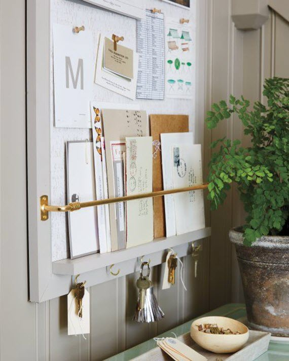 DIY message board // entryway organization #diy