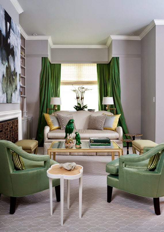 Good Green Living Room // Breeze Gianassio