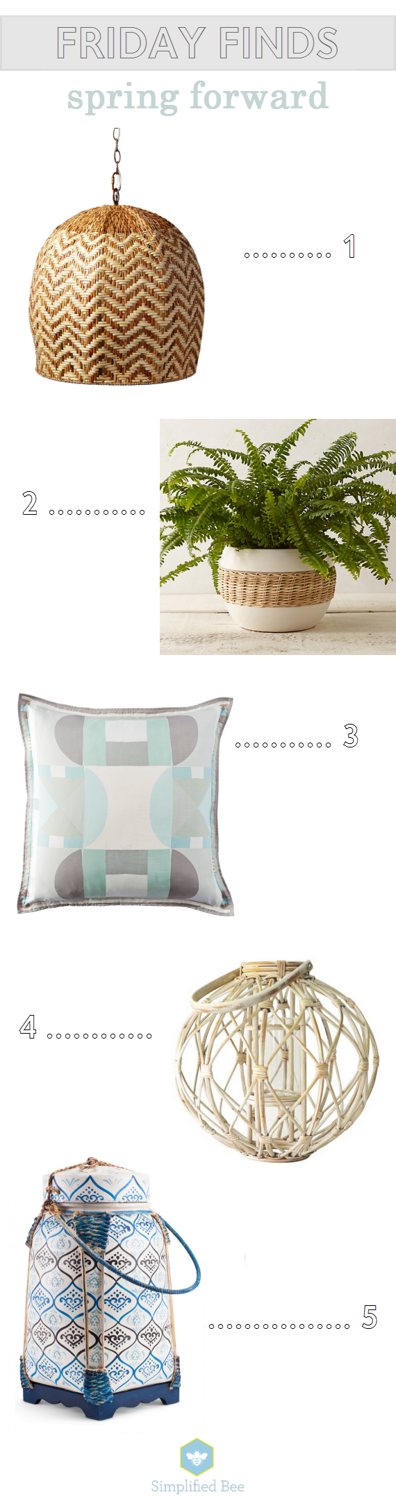 fresh spring accessories for home // www.simplifiedbee.com