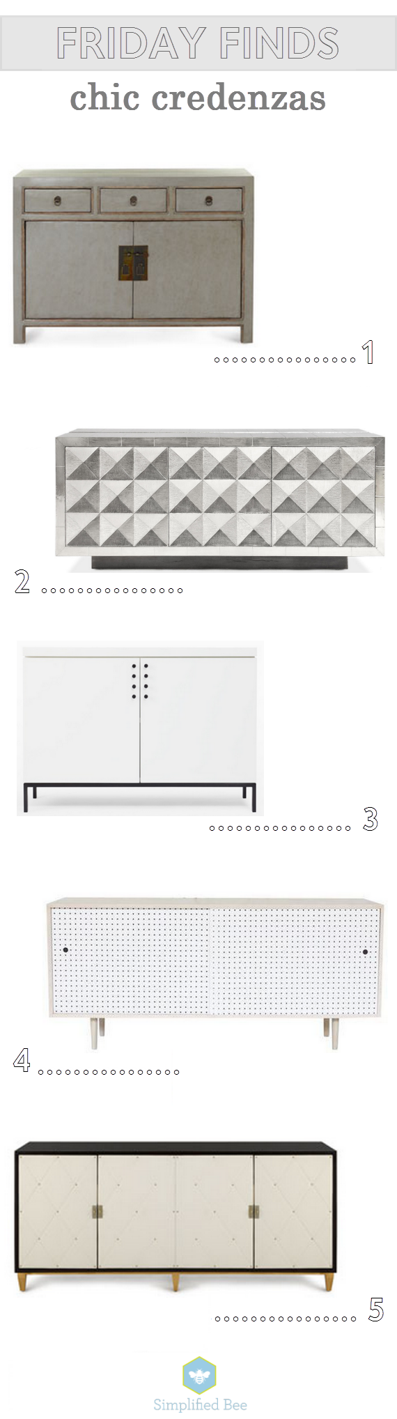 chic credenzas // friday finds // simplifiedbee.com