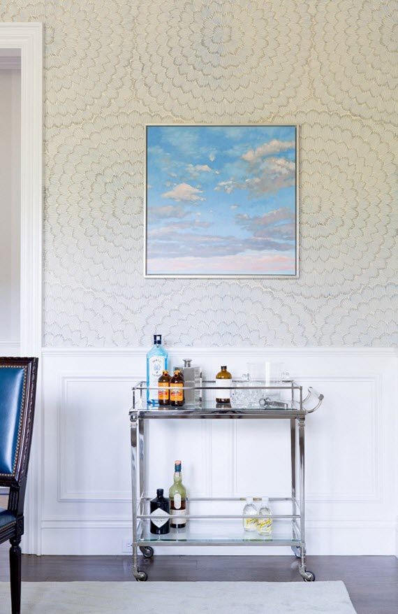 chrome bar cart // dining room