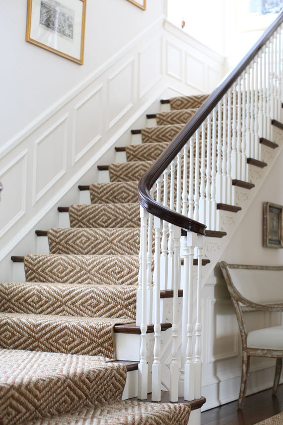 diamond jute stair-runner rug