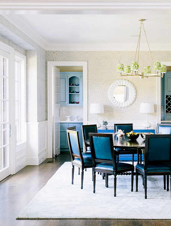 navy dining room chairs // chloe warner