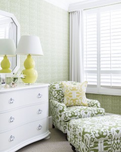 green ikat chair // bedroom // JK Kling