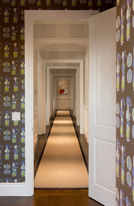 wallpapered hallway // chloe warner