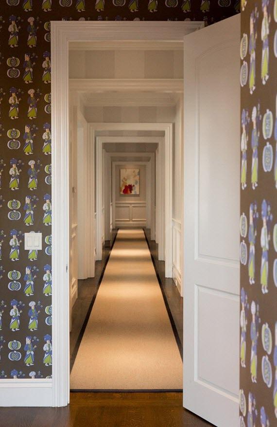 wallpapered hallway // chloe warner