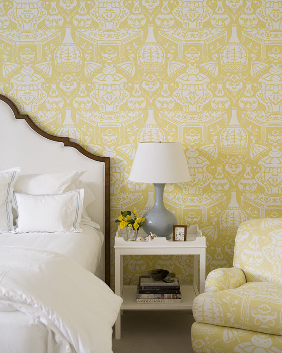 yellow wallpaper // bedroom // JK Kling