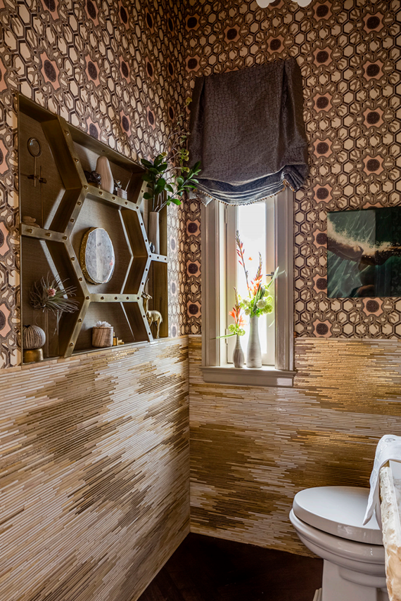 Powder Room // San Francisco Decorator Showcase 2015 // Julie Rootes