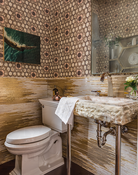 Powder Room // San Francisco Decorator Showcase 2015 // Julie Rootes
