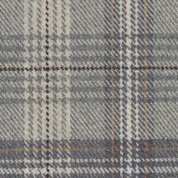 grey-blue plaid // ronda carman fine fabrics