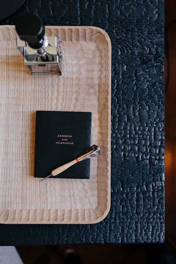 wooden tray // his office // brittany haines