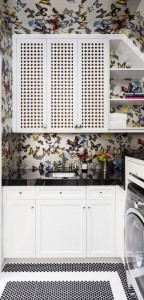 Laundry Room // Christain Lacroix Butterfly Wallpaper // San Francisco Decorator Showcase