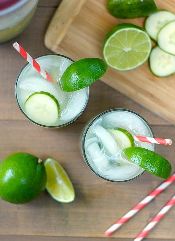 cucumber-basil limeade // summertime drink