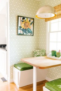 green kitchen nook // cristin priest designs // simplified bee
