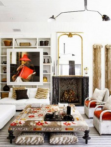 ottoman // living room // windsor smith
