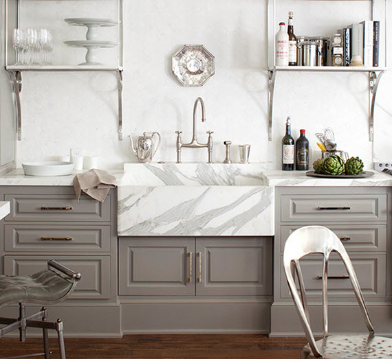 marble farmhouse sink // kitchen // windsor smith HOMEFRONT