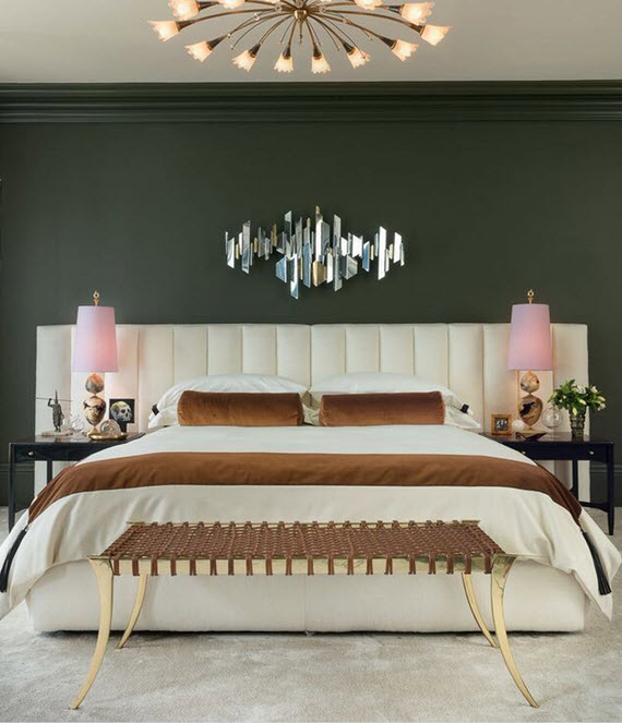 Moss Green Master Bedroom Wick Design
