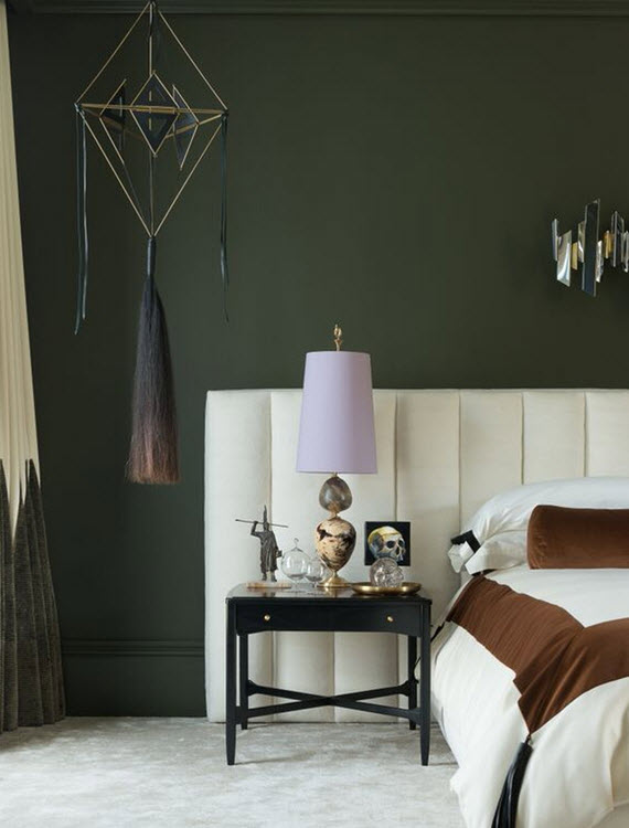 moss green // master bedroom // wick design