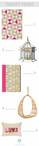 Friday Finds // Girly Decor // Simplified Bee