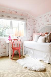 pink flamingo girl's bedroom // cristin priest design // rue magazine
