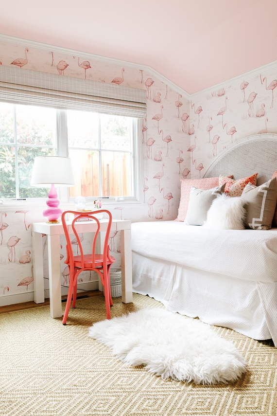 pink flamingo girl's bedroom // cristin priest design // rue magazine