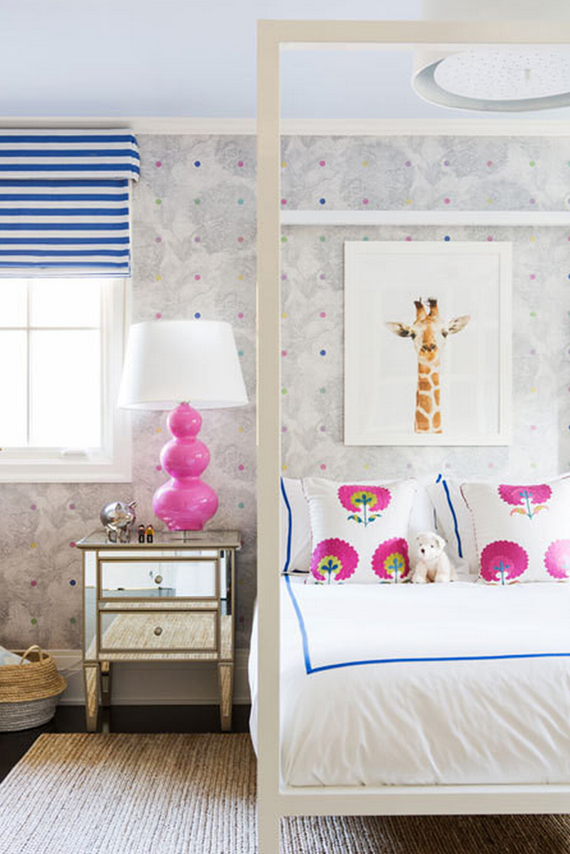 giraffe girls bedroom // Nicole Hollis // Lonny