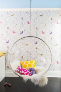 butterfly girls bedroom // Nicole Hollis // Lonny #butterfly