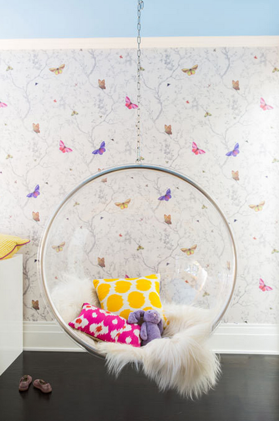 butterfly girls bedroom // Nicole Hollis // Lonny #butterfly