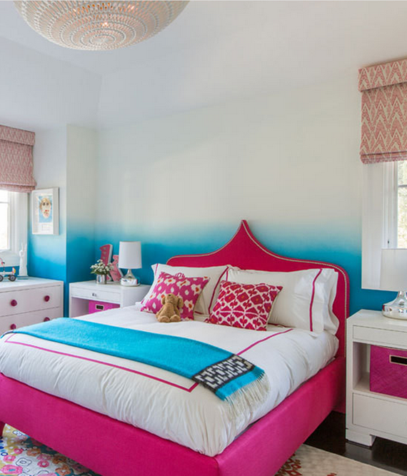 ombre teen girls bedroom // Nicole Hollis // Lonny