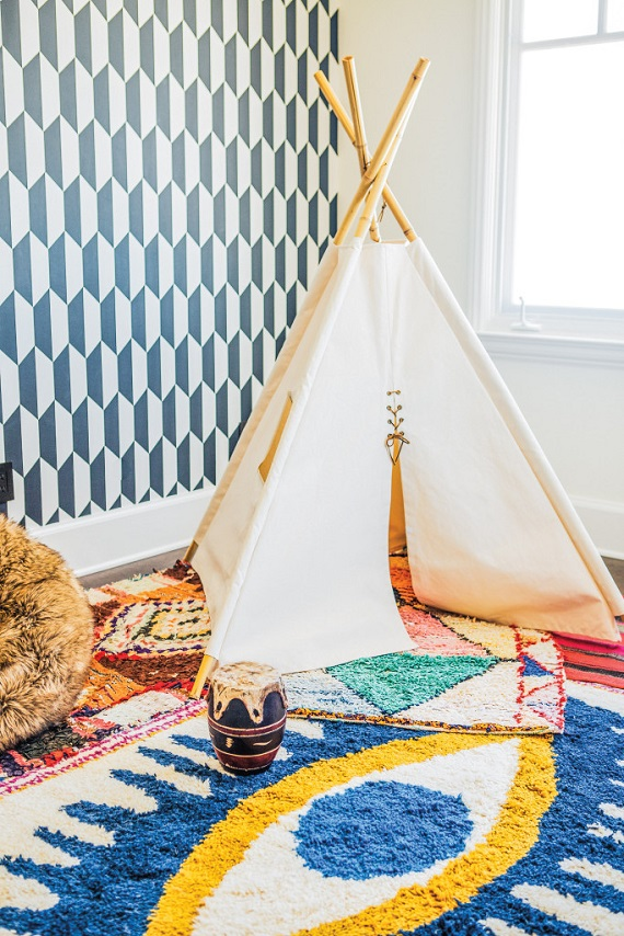 Tee Pee // Playroom // Megan Tagliaferri