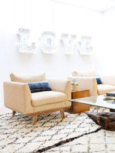 LOVE sign // boho living room // maggie pierson