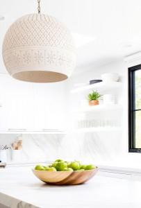 marble kitchen // pendant lighting // maggie pierson design
