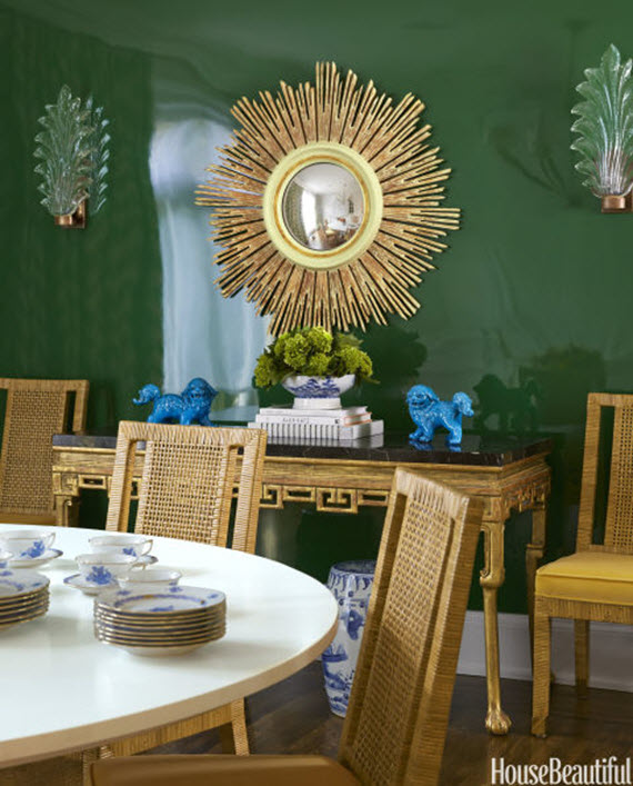 Green Dining Rooms: Dining Room // BM Seaweed Green // Palmer Weiss