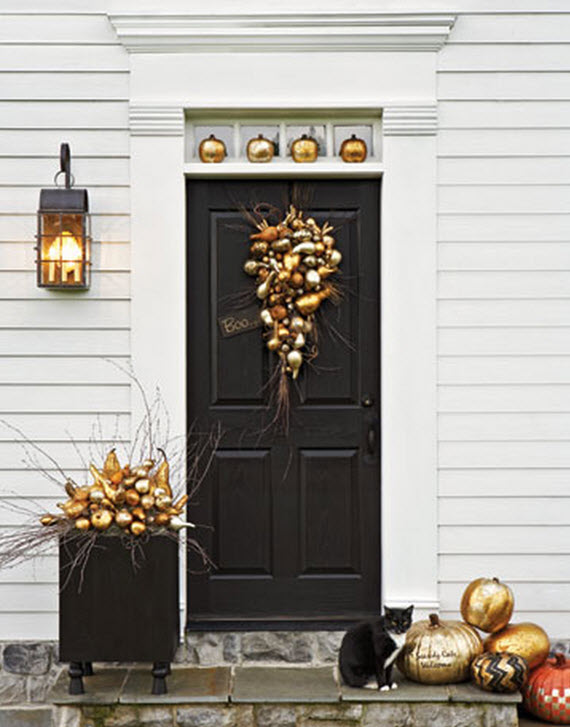 Fall Front Door Ideas Via