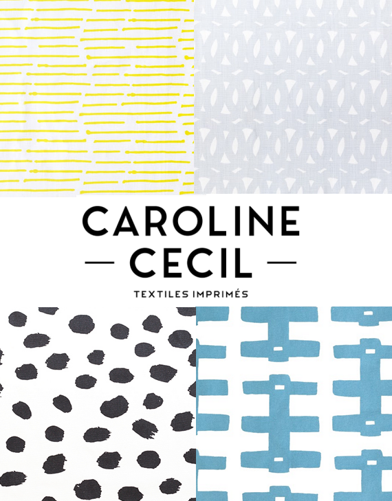 Caroline Cecil Textiles // via Simplified Bee