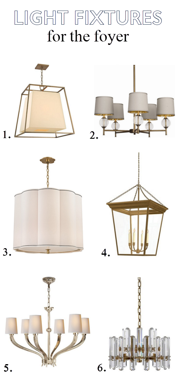 light fixtures for the foyer // one room challenge // @simplifiedbee