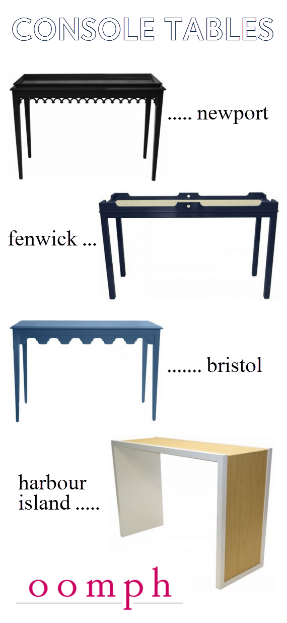 oomph console tables // one room challenge // www.simplifiedbee.com
