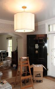 foyer lighting // one room challenge // @simplifiedbee #oneroomchallenge