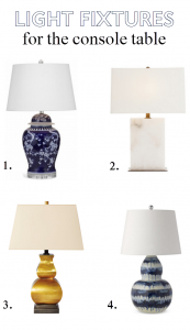 table lamps // foyer // @simplifiedbee