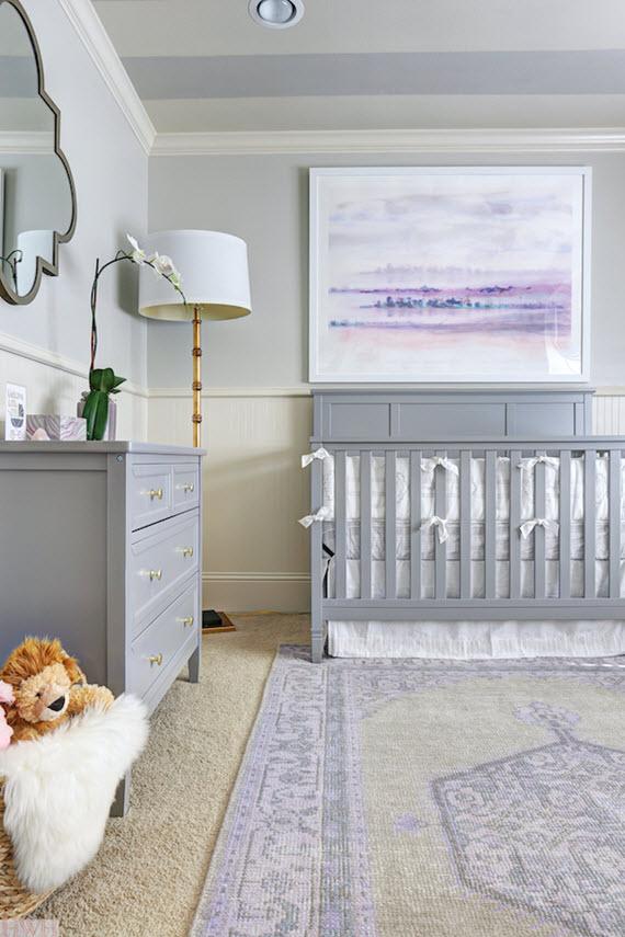 baby girl's lavender nursery // hi sugarplum! // via @simplifiedbee
