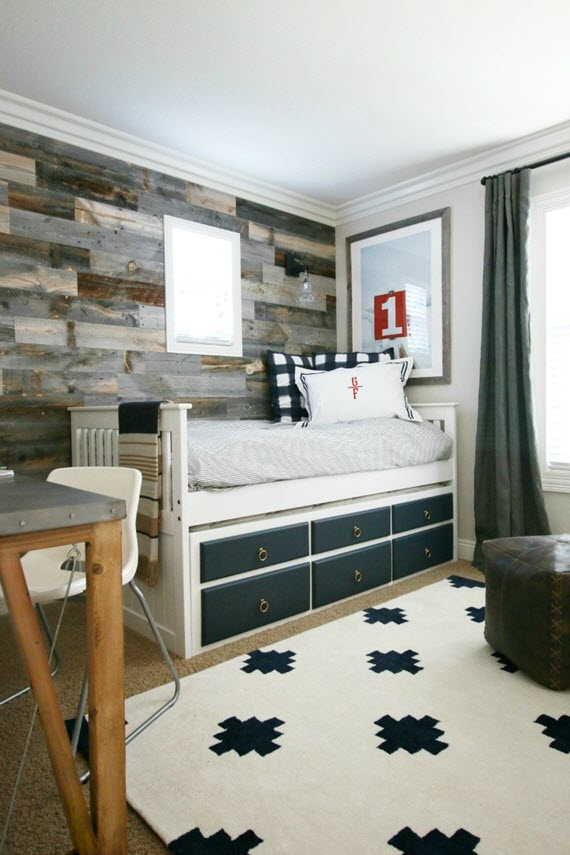 Traditional + Rustic Boyu0027s Bedroom // Design By A Thoughtful Place // Via @