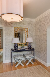 chinoiserie chic foyer // design by @simplifiedbee