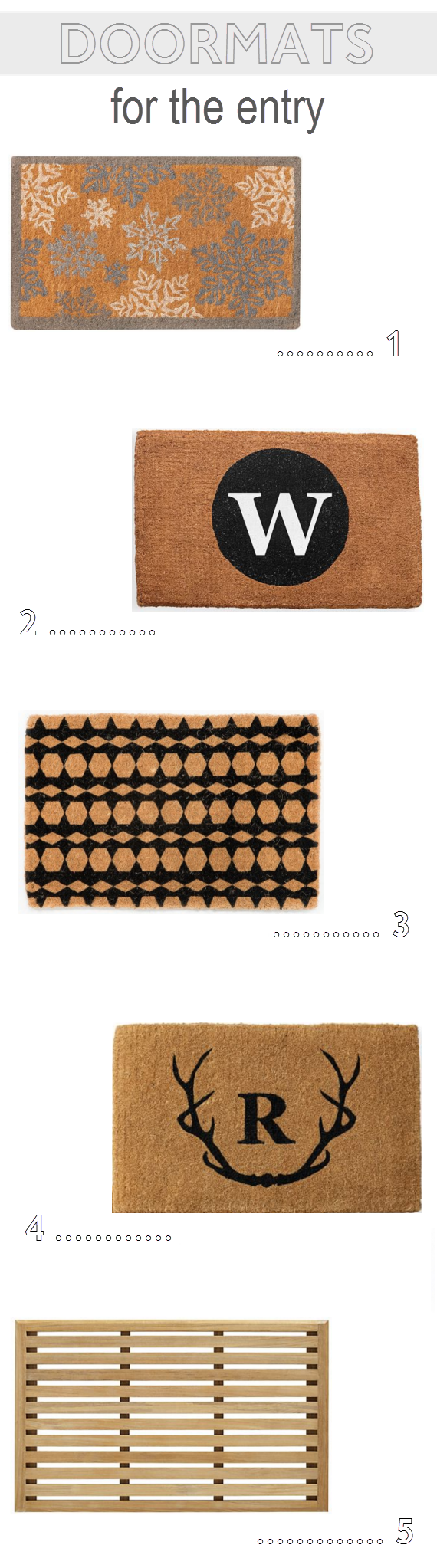 doormat options // one room challenge // @simplifiedbee
