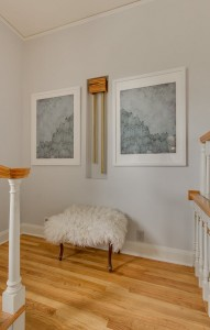 minted artwork // staircase landing // @simplifiedbee