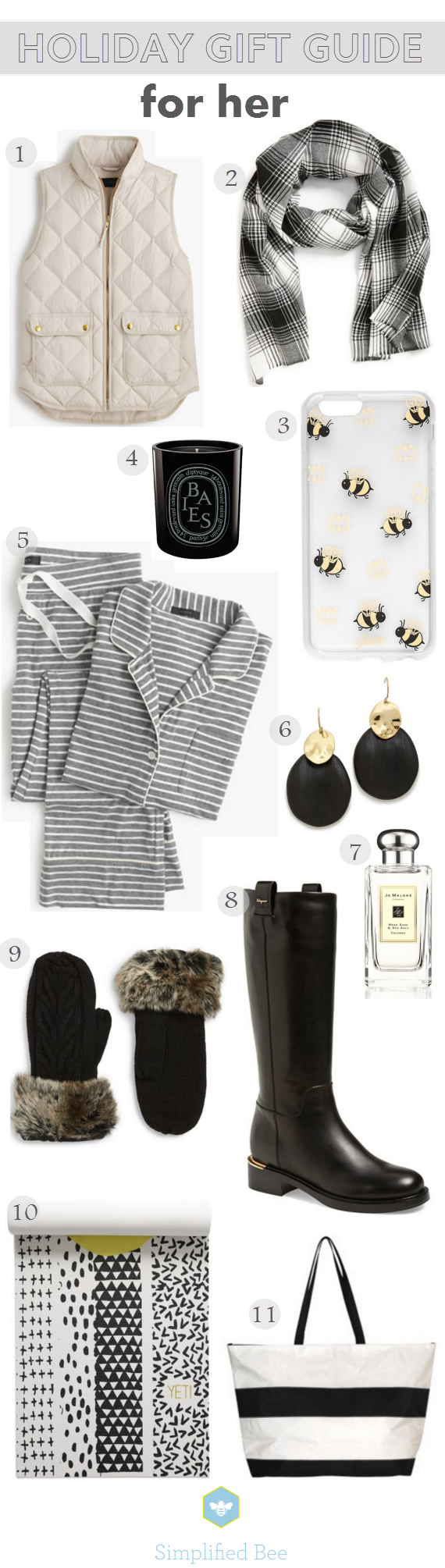 holiday gift guide 2015 for her // via @simplifiedbee #holiday #gifts