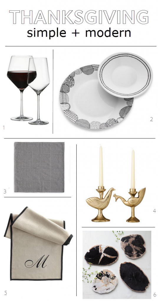 simple + modern tabletop // thanksgiving ideas // @simplifiedbee