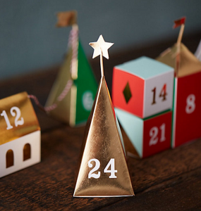 paper village // advent calendar // via @simplifiedbee