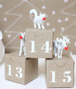 DIY plastic animal advent calendar
